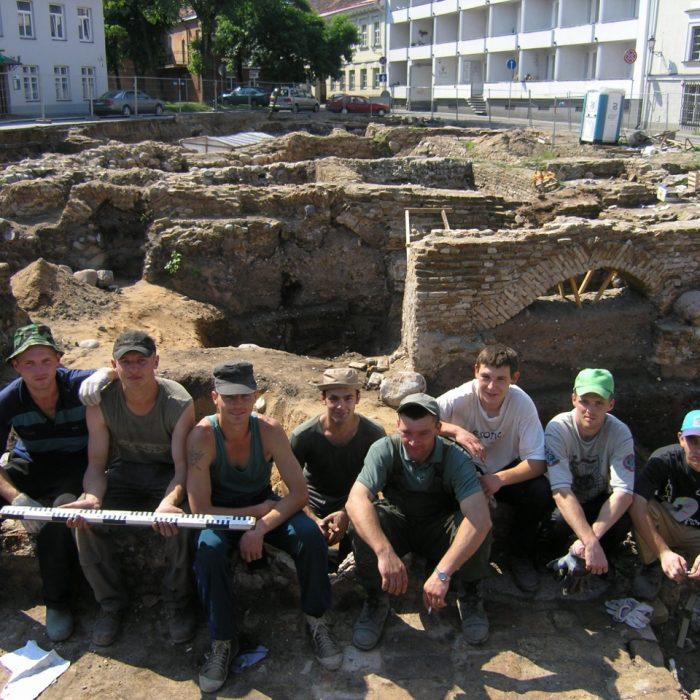 Praktiką atliekantys studentai. Vilnius